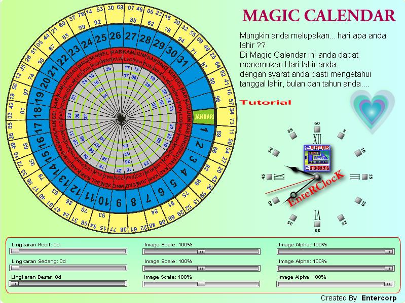 Magic Calendar Life Time